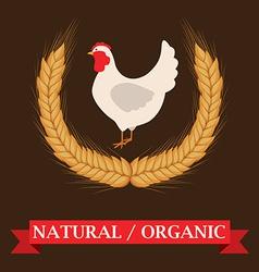 Farm design over brown background vector image
