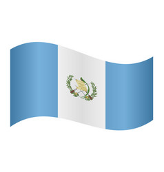flag of guatemala waving on white background vector image