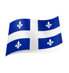 Flag quebec province canada central white vector