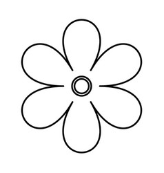 Flower black color icon vector