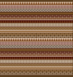 geometrical seamless pattern with african brown vector image