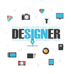 Graphic designer gadget vector