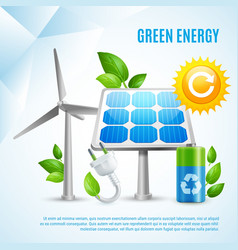 Green energy design concept vector