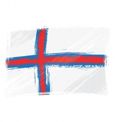 grunge Faroe Islands flag vector image