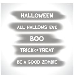 Halloween labels on blurry spots vector