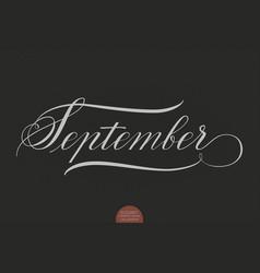 hand drawn lettering september vector image
