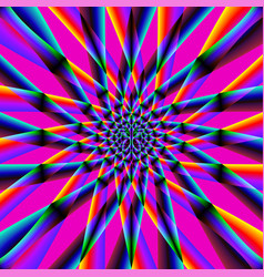 iridescent psychedelic pattern vector image