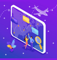 Isometric tourist selecting direction relaxation vector