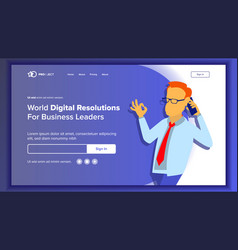 landing website page business website web vector image