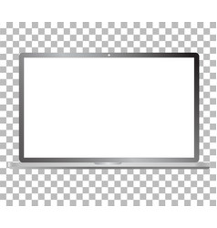 Laptop computer mockup isolated on transparent vector