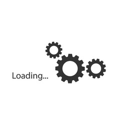 loading icon loading icon on white background vector image