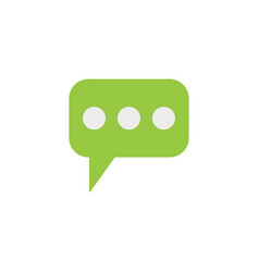 Message and speech bubbles flat icon modern sign vector