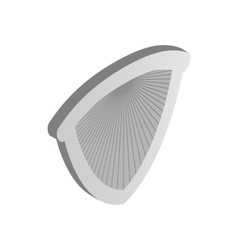Metal shield icon isometric 3d style vector image