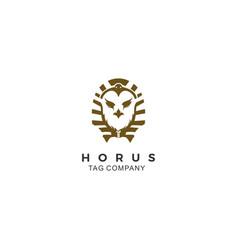 Negative space horus logo vector