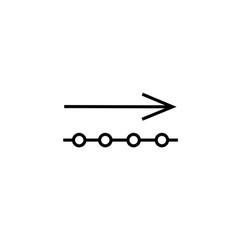 Outgoing data icon vector