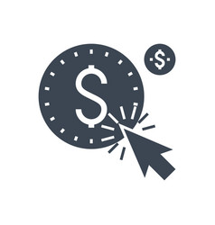 pay per click glyph icon vector image