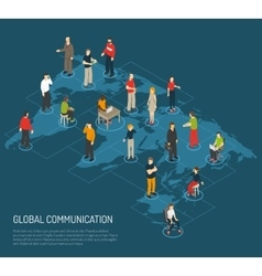 People Poster Of Global Communication vector