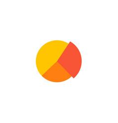 pie chart icon flat element vector image