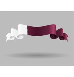 Qatari wavy flag vector image