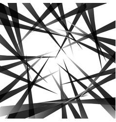 Random pointed lines edgy grayscale background vector