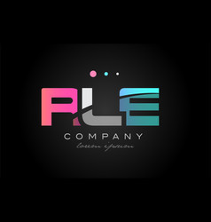 rle r l e three letter logo icon design vector image