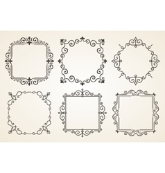 Set of Victorian Vintage Decorations Elements and vector image