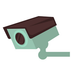 Small video camera that attached to wall isolated vector