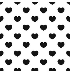 Sympathetic heart pattern seamless vector