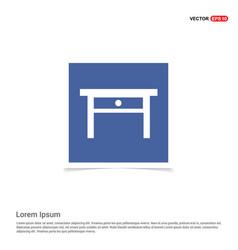 Table icon - blue photo frame vector