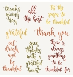 Thanksgiving day vintage gift tags and cards vector