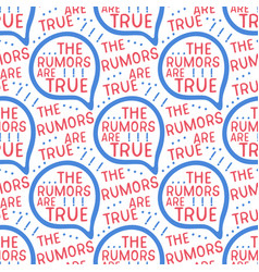 The rumors are true seamless pattern vector