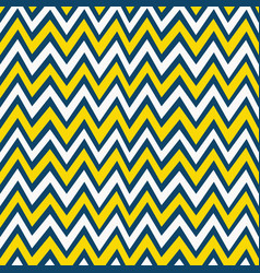 Trendy yellow white and navy blue chevron pattern vector