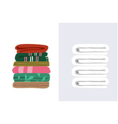 Two types towels white vector