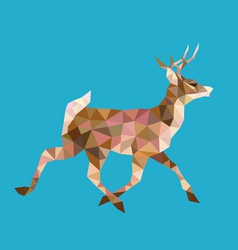 Walking deer low polygon vector