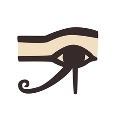 Wedjat or eye of horus ancient egyptian symbol of vector