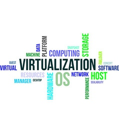 Word cloud virtualization vector