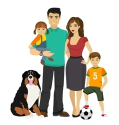 Young happy Family vector