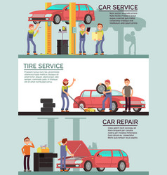 car services and auto garag marketing vector image vector image