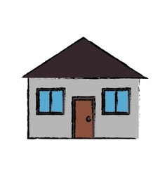 Drawing real state house lifestyle vector