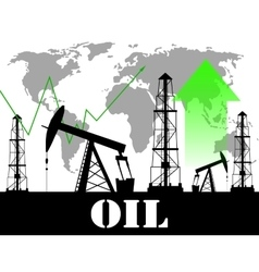 Oil price graph vector image vector image