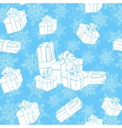 Winter holidays presents vector image vector image
