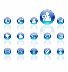 aqua icons vector image