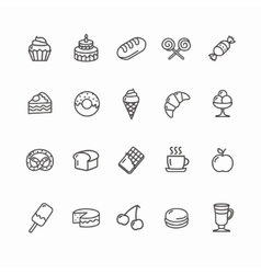 Bakery and Pastry Icons Set vector image vector image