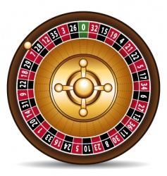 casino roulette vector image vector image