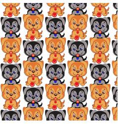 dog pattern cute cartoon dog vector image vector image