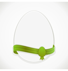 easter egg and ribbon vector image vector image