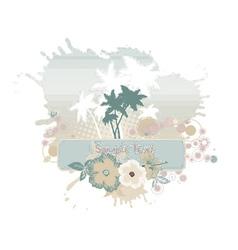 grunge summer vector image vector image