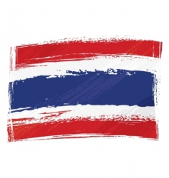 grunge Thailand flag vector image vector image
