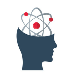 head think atom molecule concept vector image