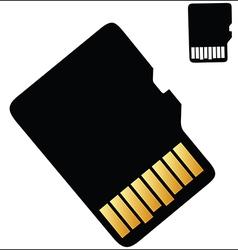 Micro SD Card vector image vector image